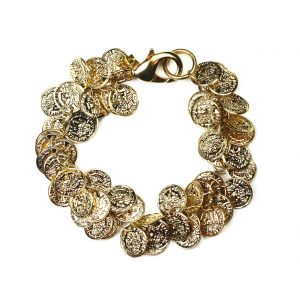 Gold Gypsy Coin Bracelet-0