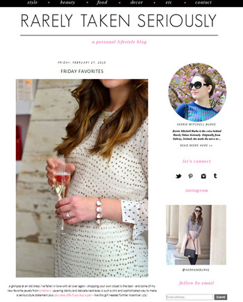 Cristina V. featured on Rarely Taken Seriously Life Style Blog