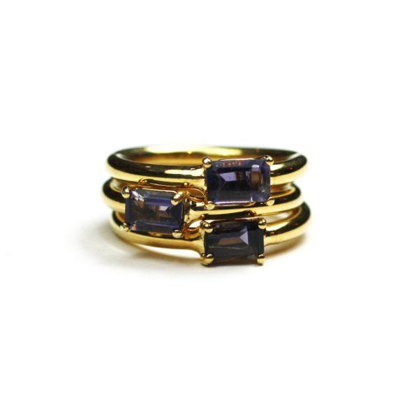 Iolite Baguette Stack Ring-1494