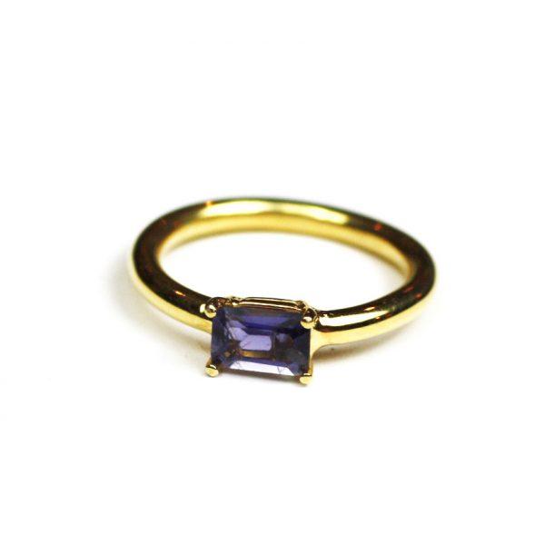Iolite Baguette Stack Ring-0