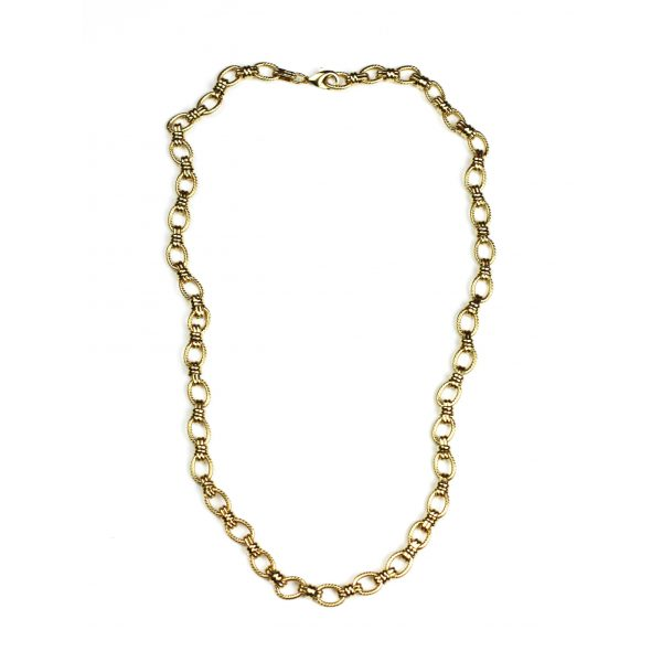Gold Criss Cross Chain Necklace-1515