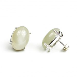 Light Gray Serena Stud Earrings-0