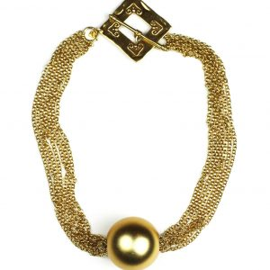 Gold Ball & Chain Necklace-0