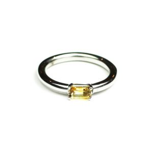 Citrine Baguette Stack Ring-0