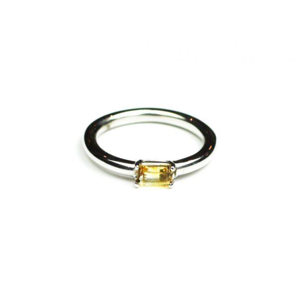 Citrine Baguette Stack Ring-0