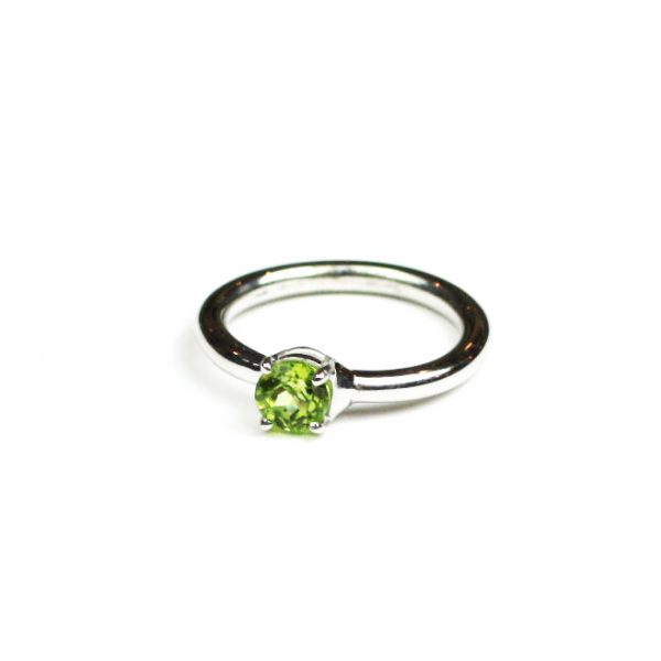 Peridot Solitaire Stack Ring-0