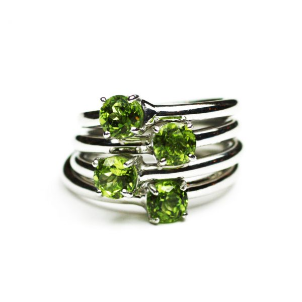 Peridot Solitaire Stack Ring-1632