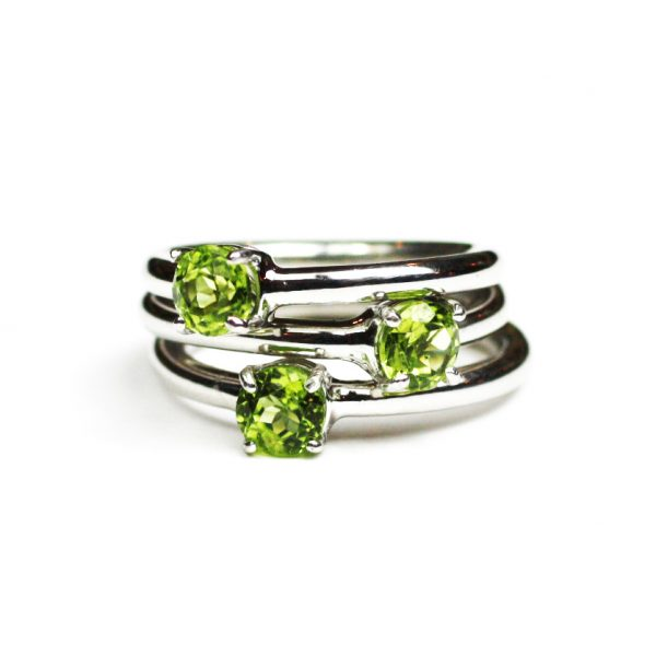 Peridot Solitaire Stack Ring-1631