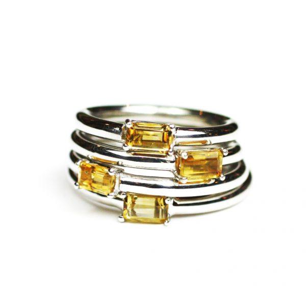 Citrine Baguette Stack Ring-1635