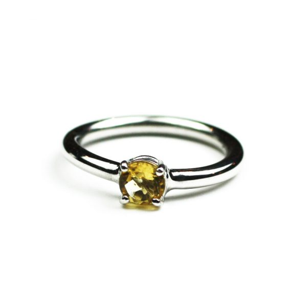 Citrine Solitaire Stack Ring-1652