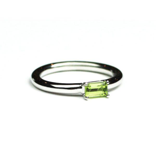 Peridot Baguette Stack Ring-1655
