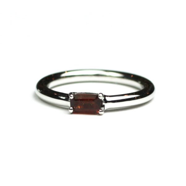 Garnet Baguette Stack Ring-1646