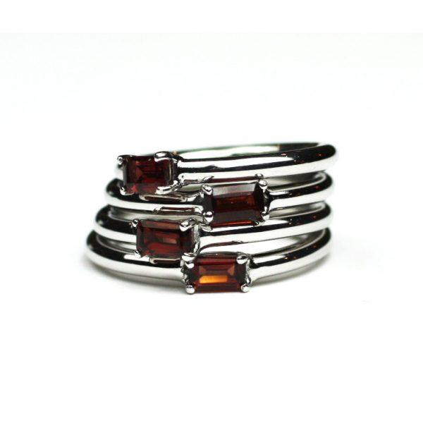 Garnet Baguette Stack Ring-1647