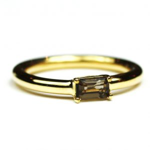 Smokey Quartz Baguette Stack Ring-0
