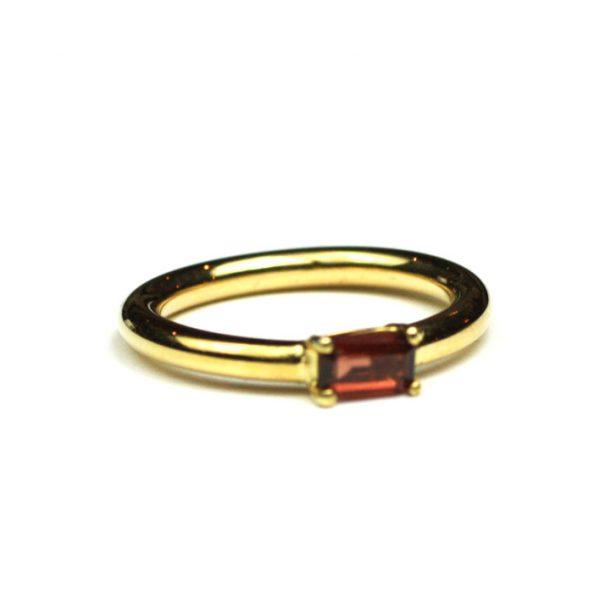Garnet Baguette Stack Ring-0