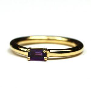Amethyst Baguette Stack Ring-0