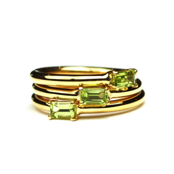 Peridot Baguette Stack Ring-1674