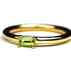 Peridot Baguette Stack Ring-0