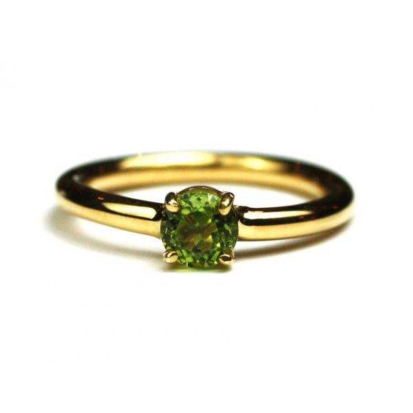 Peridot Solitaire Stack Ring-1697