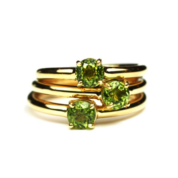 Peridot Solitaire Stack Ring-1698
