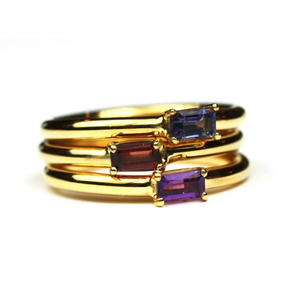 Garnet Baguette Stack Ring-1687