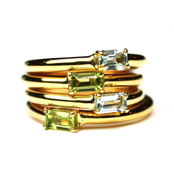 Peridot Baguette Stack Ring-1672