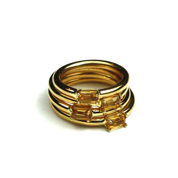 Citrine Baguette Stack Ring-1806