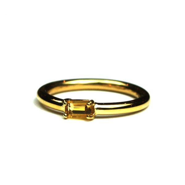 Citrine Baguette Stack Ring-1807