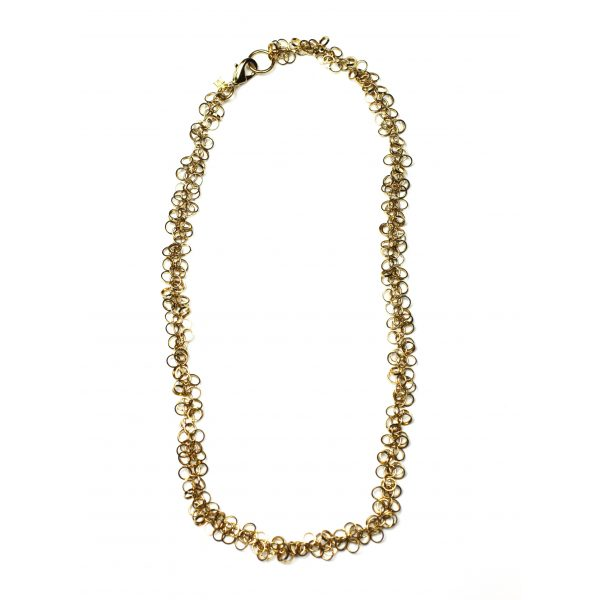 Gold Circle Chain Necklace-1866
