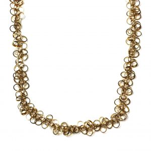 Gold Circle Chain Necklace-0