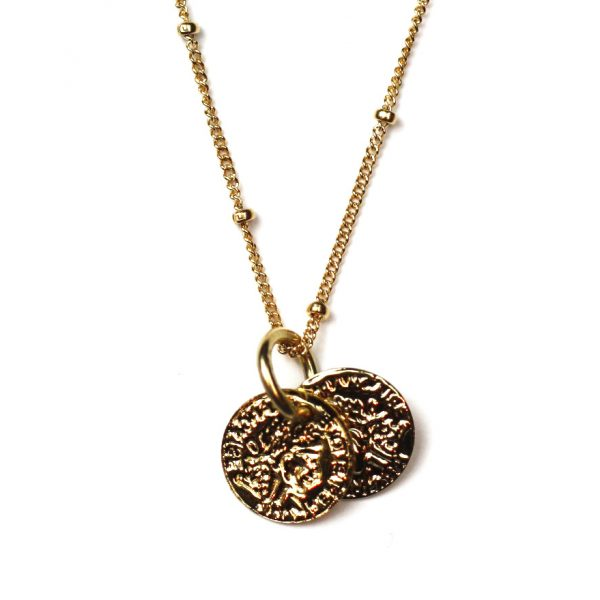 Simple Disc Necklace-0