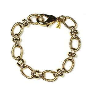 Gold Criss Cross Bracelet-0