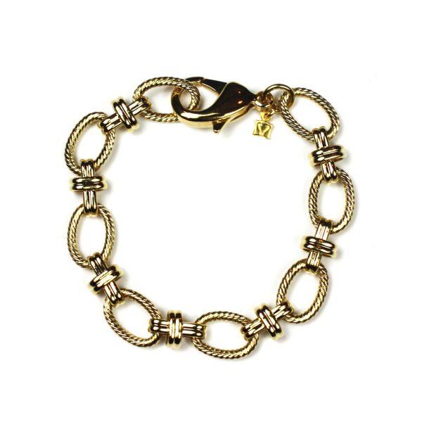Gold Criss Cross Bracelet-0