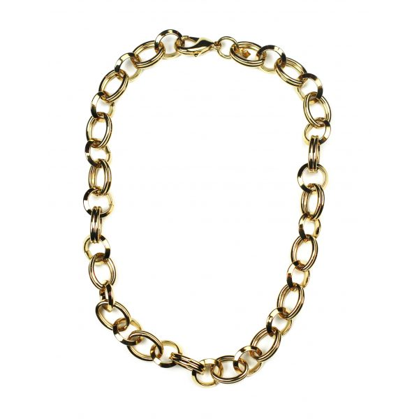 Short Circle Link Chain Necklace-2062