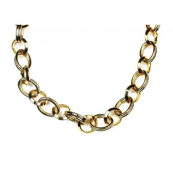 Short Circle Link Chain Necklace-2063