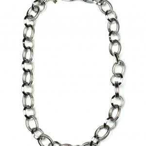 Short Circle Link Chain Necklace-0
