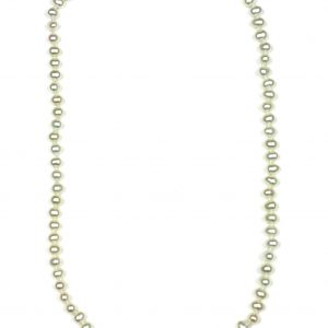 White Round Little Ladies Necklace-0