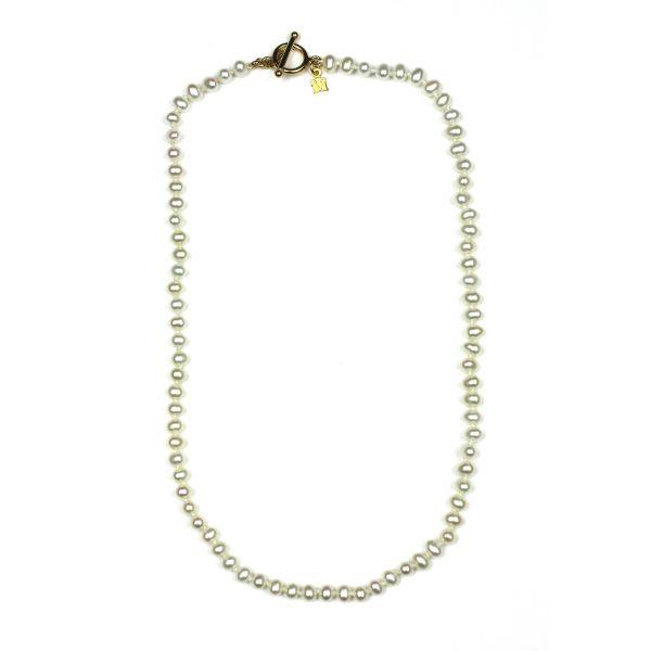 White Round Little Ladies Necklace-0