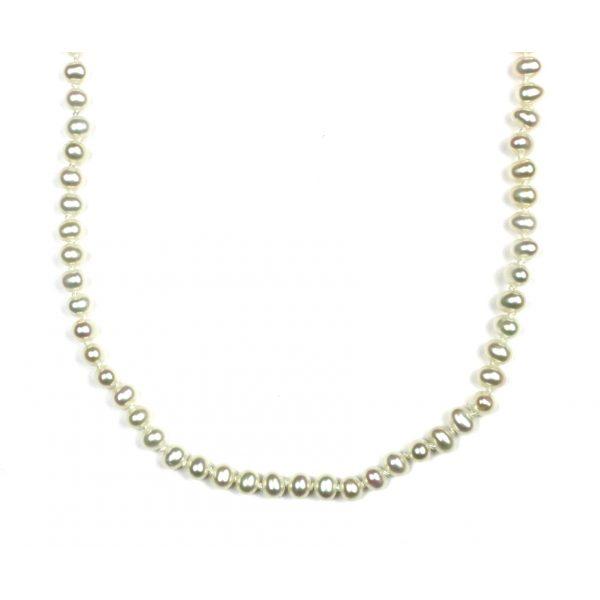 White Round Little Ladies Necklace-2227