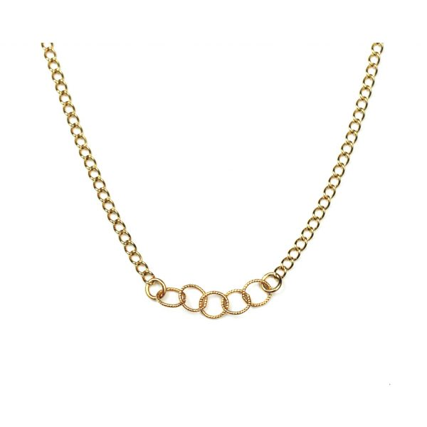 Small Circle Link Necklace-0
