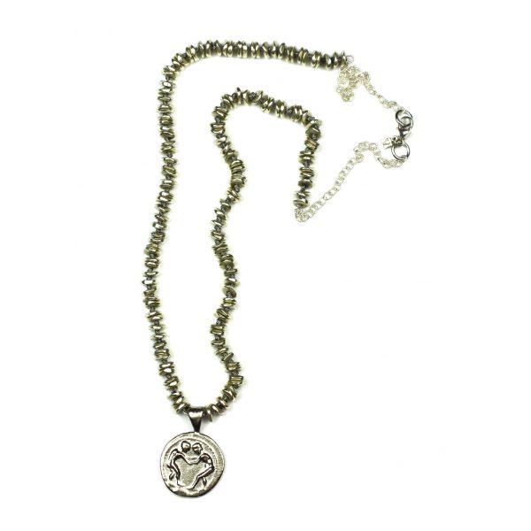 Silver Grecian Pendant Necklace-0