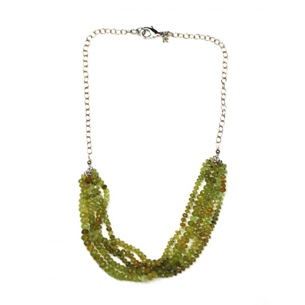 Green Multi Strand Necklace-0
