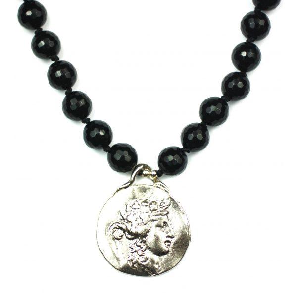 Black / Silver Roman Pendant-0