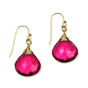 Pink Classic Briolette Earrings-0