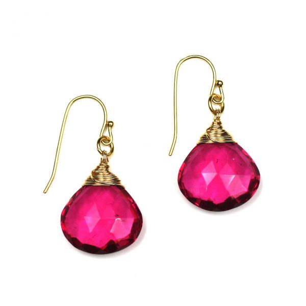 Pink Classic Briolette Earrings-0