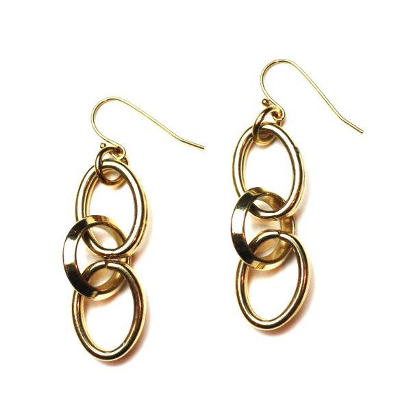 Circle Link Earrings-2771