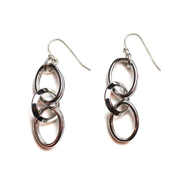 Circle Link Earrings-0