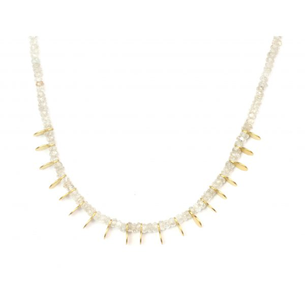 Champagne Zircon Paddle Necklace-0
