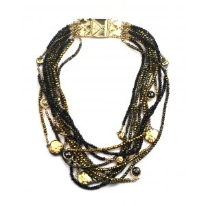 Black & Gold Statement Necklace-0