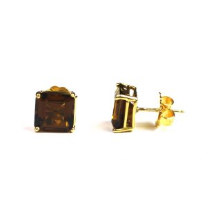 Brown Serena Stud Earrings-0